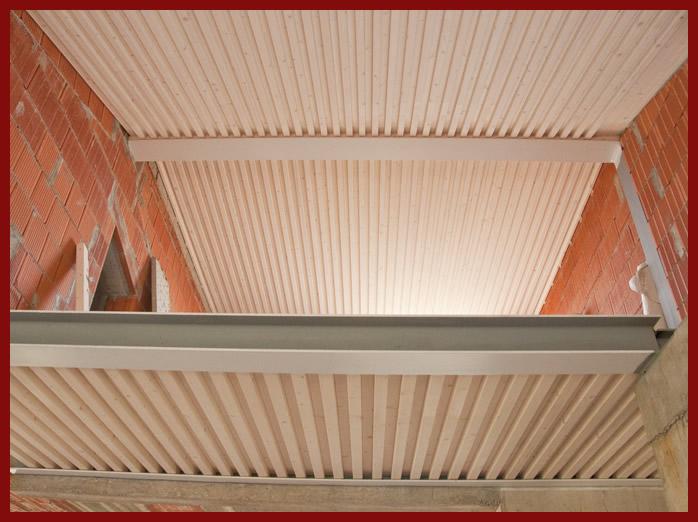 elevazione tetto mansarda : Solai Legnolego e copertura su putrelle in acciaio