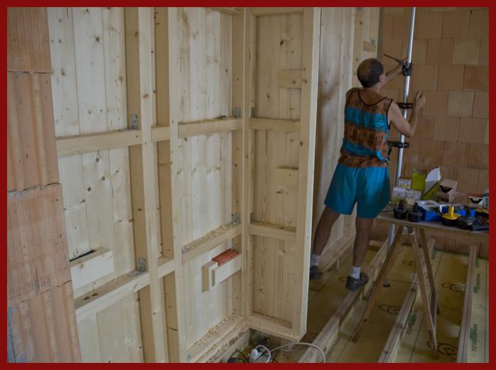 Telaio parete studio with pareti interne in legno - Lds pannelli decorativi ...
